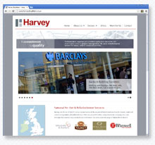 Harvey Fit-Out Contractors web site