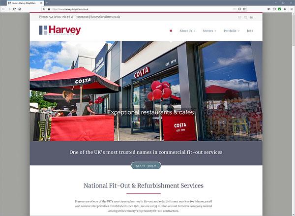 Harvey Shopfitters web site