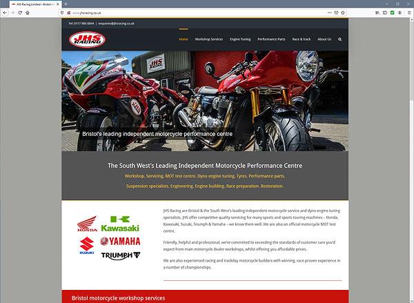JHS Racing Bristol web site