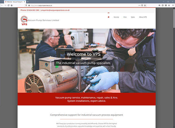 Vacuum Pump Services web site