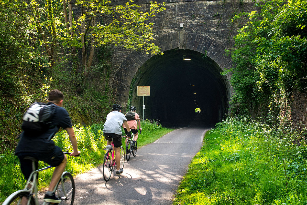 Bristol Bath cycle path Staple Hill tunnel