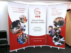 VPS roller banner stand set