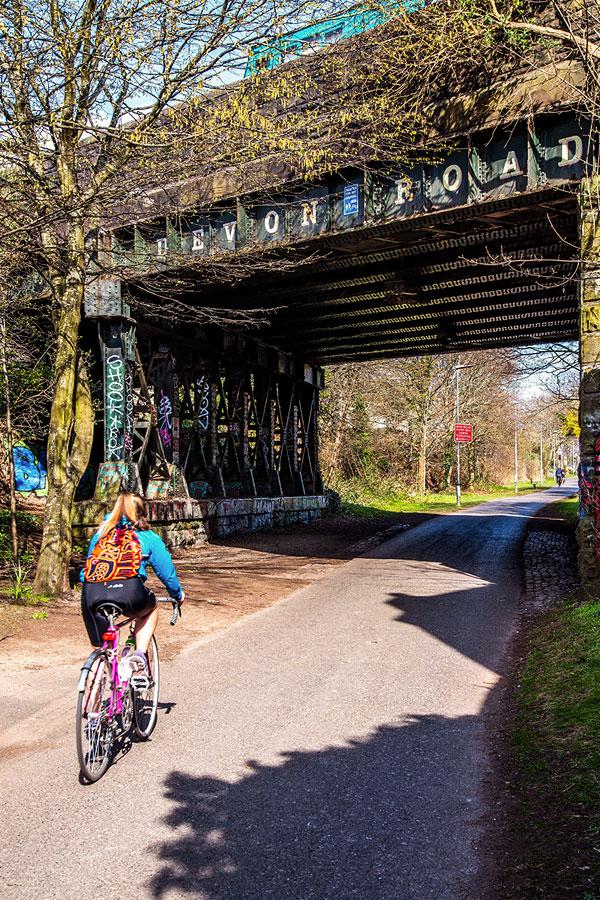 Bristol Bath railway cycle path Easton