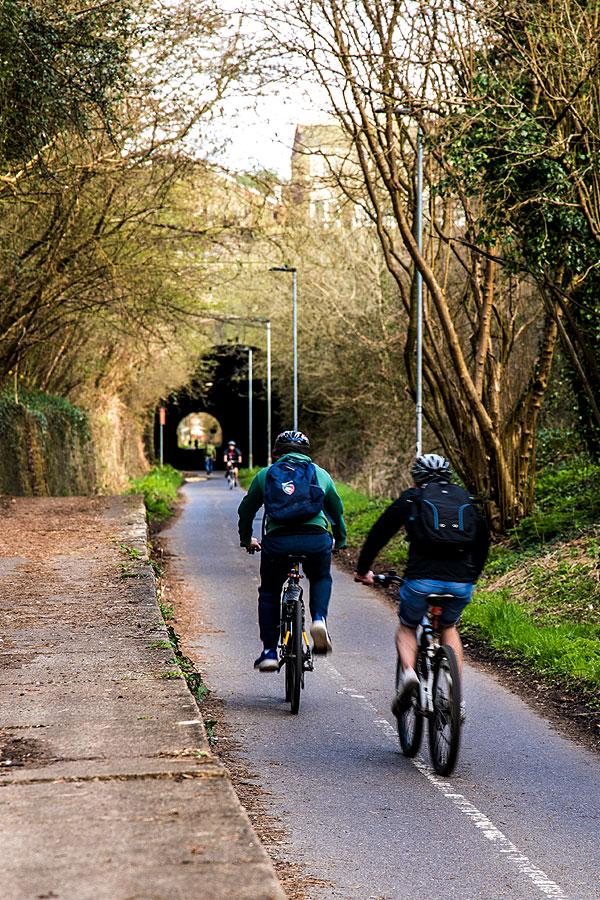 Bristol Bath railway cycle path Staple Hill tunnel