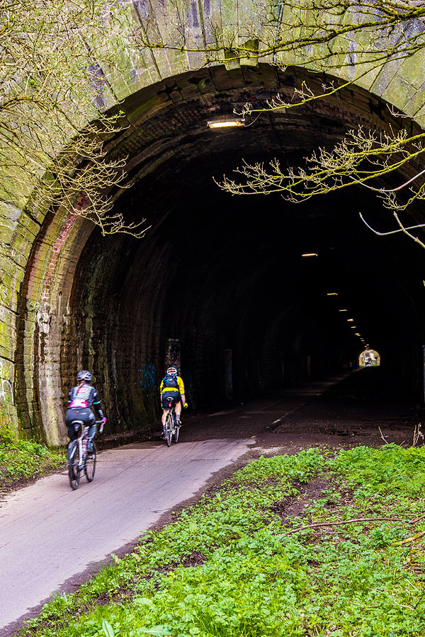 Bristol Bath railway cycle path Staple Hill tunnel.
