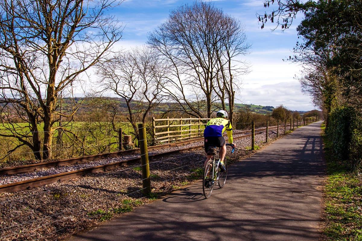 Bristol Bath railway cycle path beyond Bitton
